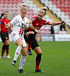 Mollie Green of Manchester United Women and Lily Agg of Charlton Athletic Women