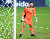WASHINGTON, DC - SEPTEMBER 06: Chris Seitz #1 of D.C. United looks to the ball during a game between New York City FC and D.C. United at Audi Field on September 06, 2020 in Washington, DC.