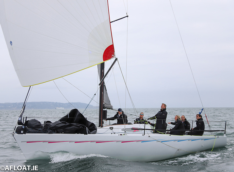 Nigel Biggs and his CheckmateXVIII crew won both races in IRC 2 of the ICRA Nationals on Dublin Bay