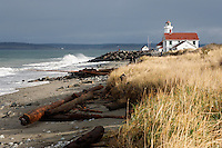 Point Wilson Lighthouse, Fort Warden State Park, Washington, USA