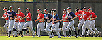 13 March 2009: Photo of the Atlanta Braves at Spring Training camp at Disney's Wide World of Sports in Lake Buena Vista, Fla. Photo by:  Tom Priddy/Four Seam Images