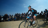 111th Paris-Roubaix 2013..Mathew Hayman (AUS) at the first cobbled sector (#27)