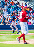 28 February 2017: Houston Astros outfielder Carlos Beltran rounds the bases after hitting a home run during the Spring Training inaugural game against the Washington Nationals at the Ballpark of the Palm Beaches in West Palm Beach, Florida. The Nationals defeated the Astros 4-3 in Grapefruit League play. Mandatory Credit: Ed Wolfstein Photo *** RAW (NEF) Image File Available ***