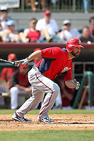 Washington Nationals infielder Danny Espinosa #8 at bat during a spring training game against the Houston Astros at Osceola County Stadium on March 3, 2012 in Kissimmee, Florida.  Houston defeated Washington 3-1.  (Mike Janes/Four Seam Images)