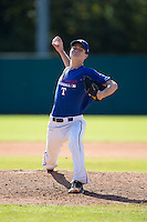 Joe Molettiere (23) of Pennridge High School in Perkasie, Pennsylvania playing for the Texas Rangers scout team at the South Atlantic Border Battle at Doak Field on November 2, 2014.  (Brian Westerholt/Four Seam Images)