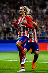 Antoine Griezmann of Atletico de Madrid celebrates during the UEFA Champions League 2017-18 match between Atletico de Madrid and Chelsea FC at the Wanda Metropolitano on 27 September 2017, in Madrid, Spain. Photo by Diego Gonzalez / Power Sport Images