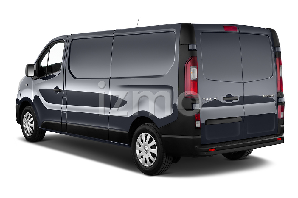 Car pictures of rear three quarter view of a 2020 Renault Trafic Grand-Confort 4 Door Cargo Van angular rear