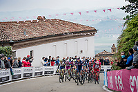 final grupetto up the 15% climb in Guarene, 15 kilometers from the finish <br /> <br /> 104th Giro d'Italia 2021 (2.UWT)<br /> Stage 3 from Biella to Canale (190km)<br /> <br /> ©kramon