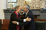 Spanish musicologist Jordi Savall receives the Golden Medal at the Circulo de Bellas Artes in Madrid, Spain. January 21, 2015. (ALTERPHOTOS/Victor Blanco)