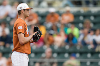 Texas starting pitcher Taylor Jungmann waits for a sign from his catcher against Stanford on March 4th, 2011 at UFCU Disch-Falk Field in Austin, Texas.  (Photo by Andrew Woolley / Four Seam Images)