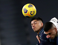 Calcio, Serie A: Juventus FC - S.S.Lazio, Turin, Allianz Stadium, March 6, 2021.<br /> Lazio's Joaquin Correa (l) in action with Juventus' Merih Demeral (r) during the Italian Serie A football match between Juventus and Lazio at the Allianz stadium in Turin, on March 6, 2021.<br /> UPDATE IMAGES PRESS/Isabella Bonotto