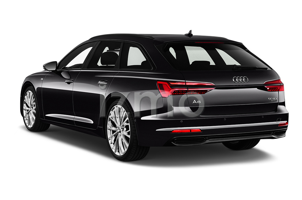 Rear three quarter view of a 2019 Audi A6 Avant Sport 5 Door Wagon angular rear