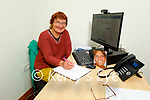 Lesley Collins in the Phoneix Womens's Centre on Monday and they launch their writing competition.