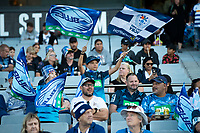 3rd April 2021; Eden Park, Auckland, New Zealand;  Blues fans before the Super Rugby Aotearoa rugby match between the Blues and the Hurricanes held at Eden Park, Auckland, New Zealand.