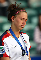 Dejected USA defender Cloee Colohan..FIFA U17 Women's World Cup Final, USA v Korea DPR, Albany Stadium, Auckland, New Zealand, Sunday 16 November 2008. Photo: Renee McKay/PHOTOSPORT