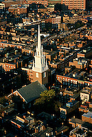 Aerial view, Old North Church, Boston, MA Freedom Trail, North End