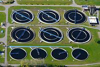 Klaerwerk Hetlingen: DEUTSCHLAND, SCHLESWIG HOLSTEIN, (GERMANY), 19.04.2014:  Klaerwerk Hetlingen, Abwasserreinigung ueber Klaerbecken