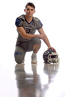 NWA Democrat-Gazette/ANDY SHUPE<br /> Greenwood's Peyton Holt is the Northwest Arkansas Democrat-Gazette Division I Football Offensive Player of the Year. Wednesday, Dec. 12, 2018.
