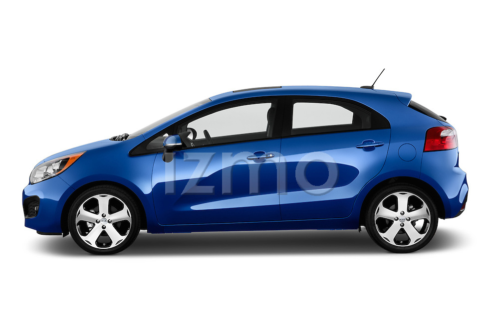 Car Driver side profile view of a 2015 KIA Rio AT SX 5 Door Hatchback 2WD Side View