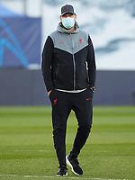 6th April 2021, Alfredo Di Stefano Stadium, Madrid, Spain; UEFA Champipons League football quarterfinl, Real Madrid versus Liverpool;  Liverpool FC coach Jurgen Klopp