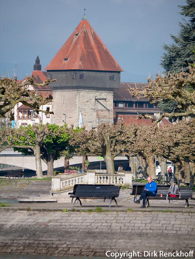 Rheintorturm in Konstanz, Baden-Württemberg, Deutschland, Europa<br /> Rhinegate tower Rheintorturm, Constance, Baden-Württemberg, Germany, Europe