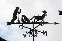 BNPS.co.uk (01202 558833)<br /> Pic: ZacharyCulpin/BNPS<br /> <br /> Something in the wind..<br /> <br /> While Covid caused much of the world to slow down, business has been booming for weathervane maker Graham Smith.<br /> <br /> The former precision engineer has been so busy he has been working seven days a week and has had to close his books to new orders.<br /> <br /> Graham hand-crafts all his weathervanes, creating intricate designs and can even recreate families or significant events.<br /> <br /> With people stuck at home in lockdown and looking at DIY and home improvements, he said he has had his busiest year.