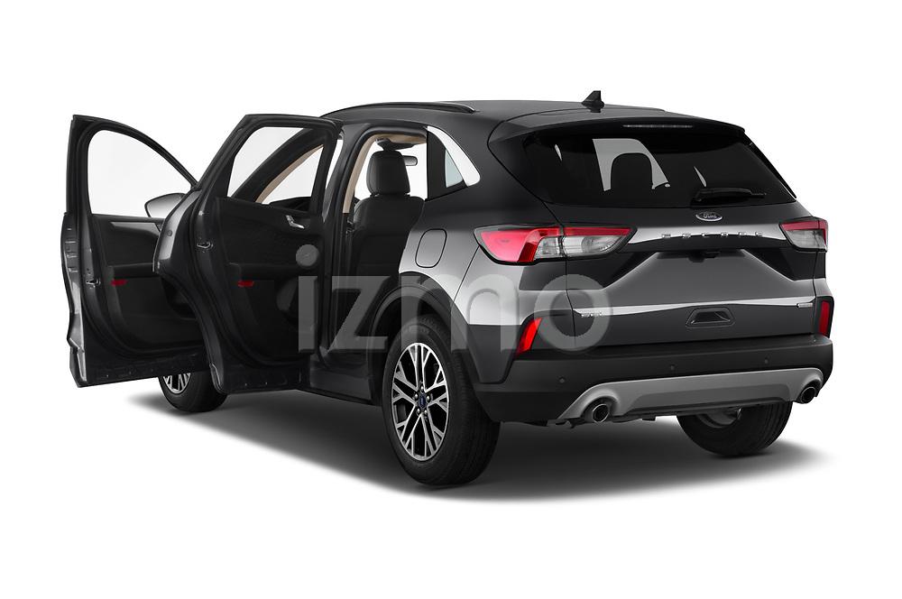 Car images close up view of a 2020 Ford Escape SEL 5 Door SUV doors
