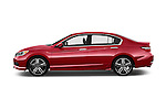 Car Driver side profile view of a 2017 Honda Accord Sport 4 Door Sedan Side View