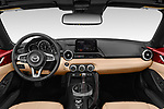 Stock photo of straight dashboard view of 2019 Mazda MX-5-Miata-RF Grand-Touring 2 Door Targa Dashboard