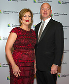 Deborah F. Rutter, president, John F. Kennedy Center for the Performing Arts, and her husband, Peter Ellefson, arrive for the formal Artist's Dinner honoring the recipients of the 41st Annual Kennedy Center Honors hosted by United States Deputy Secretary of State John J. Sullivan at the US Department of State in Washington, D.C. on Saturday, December 1, 2018. The 2018 honorees are: singer and actress Cher; composer and pianist Philip Glass; Country music entertainer Reba McEntire; and jazz saxophonist and composer Wayne Shorter. This year, the co-creators of Hamilton, writer and actor Lin-Manuel Miranda, director Thomas Kail, choreographer Andy Blankenbuehler, and music director Alex Lacamoire will receive a unique Kennedy Center Honors as trailblazing creators of a transformative work that defies category.<br /> Credit: Ron Sachs / Pool via CNP