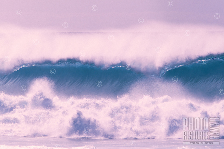 Waves at Rocky Point in North Shore, Oahu