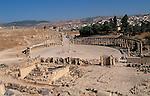 Jordan, Jerash. A view of the Forum and the Cardo&#xA;<br />