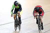Ethan Titheridge  Michael Audeau compete in the Men U19 Sprint for bronze during the 2020 Vantage Elite and U19 Track Cycling National Championships at the Avantidrome in Cambridge, New Zealand on Saturday, 25 January 2020. ( Mandatory Photo Credit: Dianne Manson )