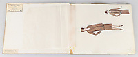 BNPS.co.uk (01202 558833)<br /> Pic: AuctionHub/BNPS<br /> <br /> Pictured: A sketchbook.<br /> <br /> A collection of fashion illustrations owned by Cecil Beaton have emerged for sale for £20,000.<br /> <br /> The drawings were given to the current seller, who has not been identified, by society and fashion photographer and costume designer Beaton as a thank you gift.<br /> <br /> Totalling over 500 designs from the 1920s and 30s, the illustrations have now been put up for auction with The Auction Hub, based in Westbury, Wiltshire.<br /> <br /> Cecil Beaton was an influential photographer, working for Vogue and Vanity Fair, as a war photographer, and taking society portraits of the Royal family and a host of celebrities.