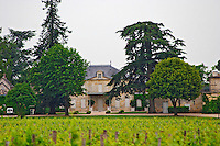 A view of Chateau Cheval Blanc across the vineyard Saint Emilion Bordeaux Gironde Aquitaine France