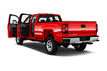 Car images close up view of a 2018 Chevrolet Silverado 2500HD Work Truck Long Box Double Cab 4 Door Pick Up doors