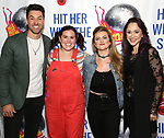 """Ace Young, Amy Toporek, Madeline Fansler and Diana DeGarmo attends the Meet the Cast of """"Hit Her WithThe Skates"""" at the Bowlmor Times Square on October 16, 2018 in New York City."""