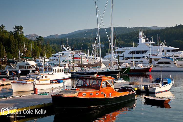 Boats in Northeast Harbor, ME, USA