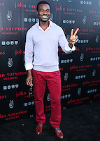 WEST HOLLYWOOD, CA, USA - SEPTEMBER 21: Lyriq Bent arrives at the John Varvatos #PeaceRocks Ringo Starr Private Concert held at the John Varvatos Boutique on September 21, 2014 in West Hollywood, California, United States. (Photo by Xavier Collin/Celebrity Monitor)