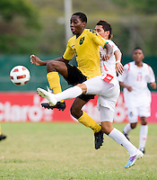 during the third place game of the CONCACAF Men's Under 17 Championship at Catherine Hall Stadium in Montego Bay, Jamaica. Panama defeated Jamaica, 1-0.