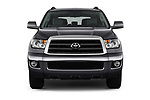 Car photography straight front view of a 2015 Toyota Sequoia SR5 5 Door SUV