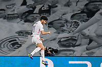 6th April 2021, Alfredo Di Stefano Stadium, Madrid, Spain; UEFA Champipons League football quarterfinl, Real Madrid versus Liverpool;  Marco Asensio of Real Madrid celebrates scoring his goal in the 36th minute for 2-0