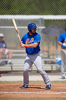 New York Mets Brandon Brosher (21) bats during a minor league Spring Training game against the St. Louis Cardinals on March 28, 2017 at the Roger Dean Stadium Complex in Jupiter, Florida.  (Mike Janes/Four Seam Images)