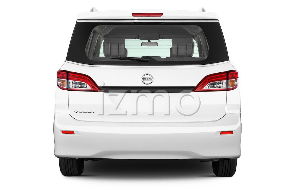 Straight rear view of a 2015 Nissan Quest s 5 Door Mini Van stock images