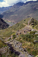 Peru, Pisac.  Inca Temple of the Sun.