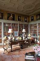 The library, furnished with books old and new