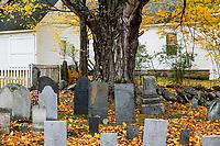 Rustic autumn cemetery,.