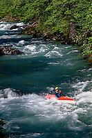Europe/France/Midi-Pyrénées/09/Ariège/Vallée du Haut-Salat/Env Seix: Kayak sur le Salat