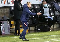 Rehanne Skinner head coach of Tottenham Hotspur gives instructions to her players during Tottenham Hotspur Women vs Aston Villa Women, Barclays FA Women's Super League Football at the Hive Stadium on 13th December 2020
