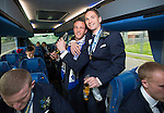 St Johnstone v Dundee United....17.05.14   William Hill Scottish Cup Final<br /> Chris Millar and Gary McDonald on the journey back to Perth<br /> Picture by Graeme Hart.<br /> Copyright Perthshire Picture Agency<br /> Tel: 01738 623350  Mobile: 07990 594431